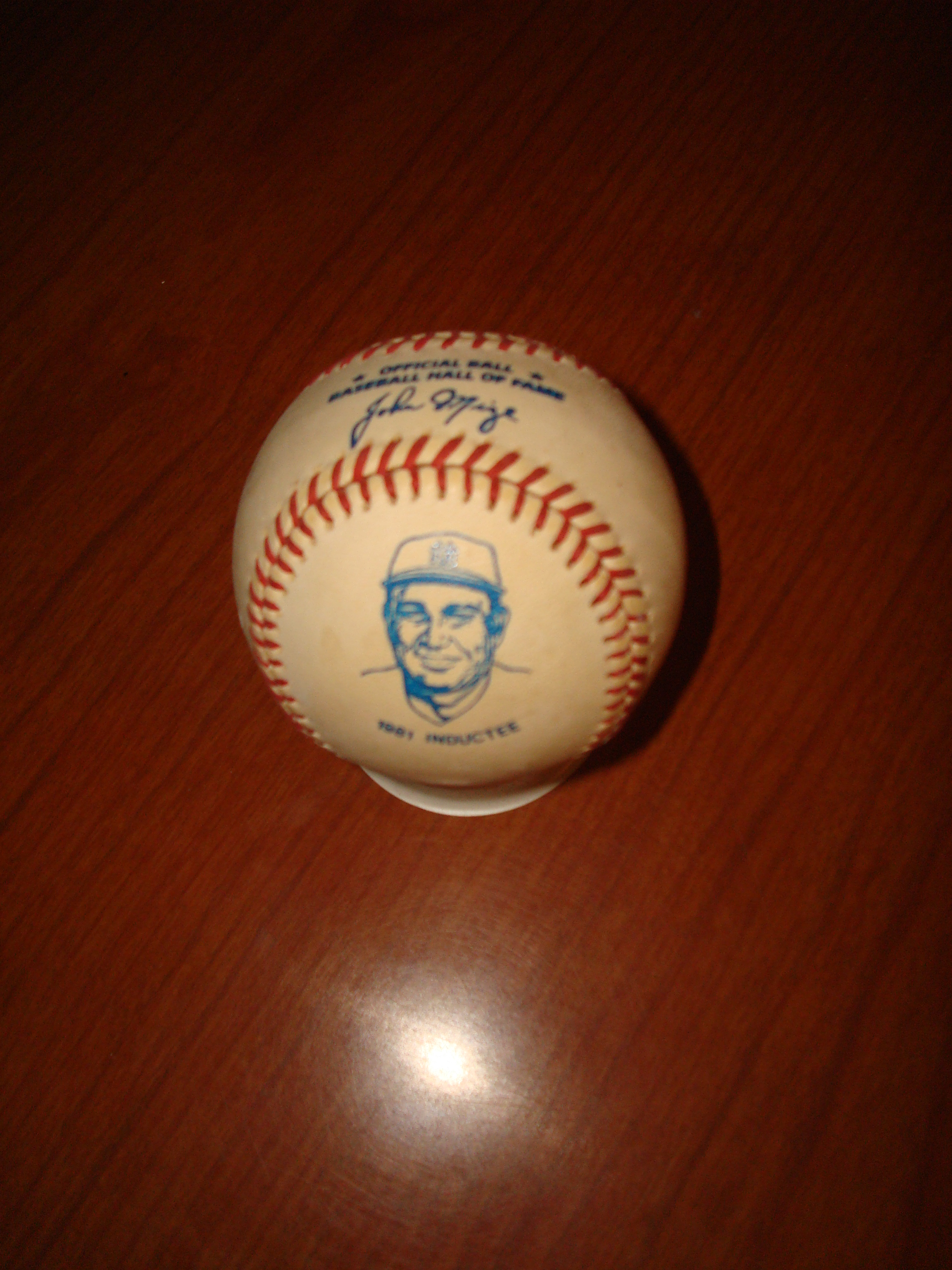 Official Ball Baseball Hall of Fame 1981 Inductee New York Yankees 1B Johnny Mize