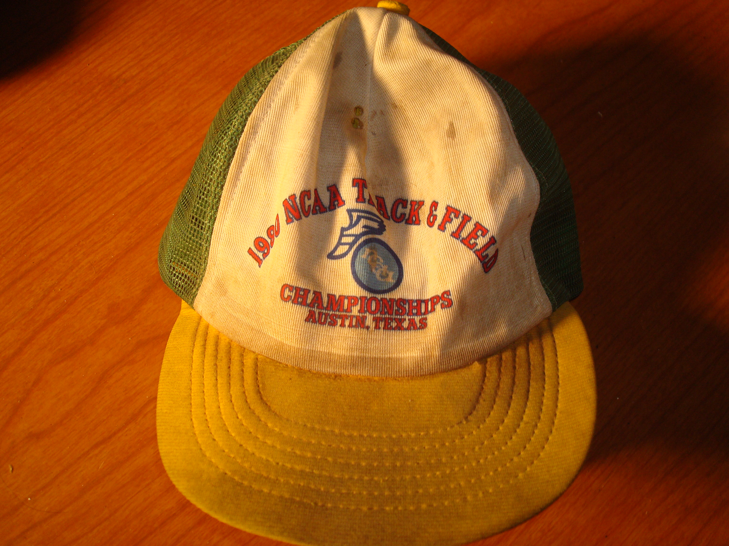 Original Cap 1984 NCAA Track & Field Championship from Darrell K. Royal Memorial Stadium at the Unikversity of Texas