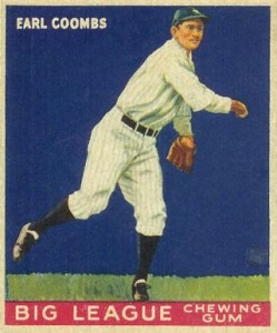 Original Baseball Card 1934 New York Yankees P Earl Combs