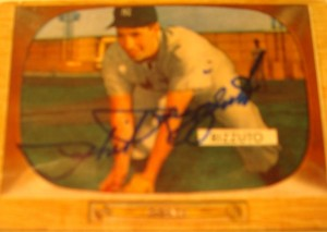 Original Baseball Card 1955 Bowman Autograph New York Yankees SS Phil Rizzuto