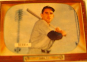 Original Baseball Card 1955 Bowman New York Yankees C Yogi Berra