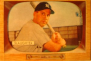 Original Baseball Card 1955 Bowman New York Yankees Of Enos Slaughter