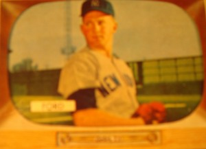 Original Baseball Card 1955 Bowman New York Yankees P Whitey Ford