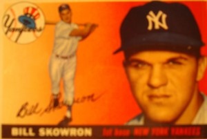 Original Baseball Card 1955 Topps New York Yankees 1B Bill Skowron
