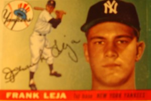 Original Baseball Card 1955 Topps New York Yankees 1B Frank Leja