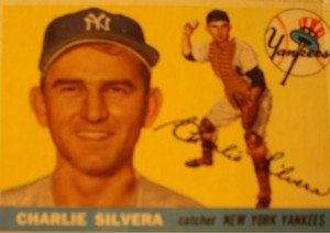 Original Baseball Card 1955 Topps New York Yankees C Charlie Silvera