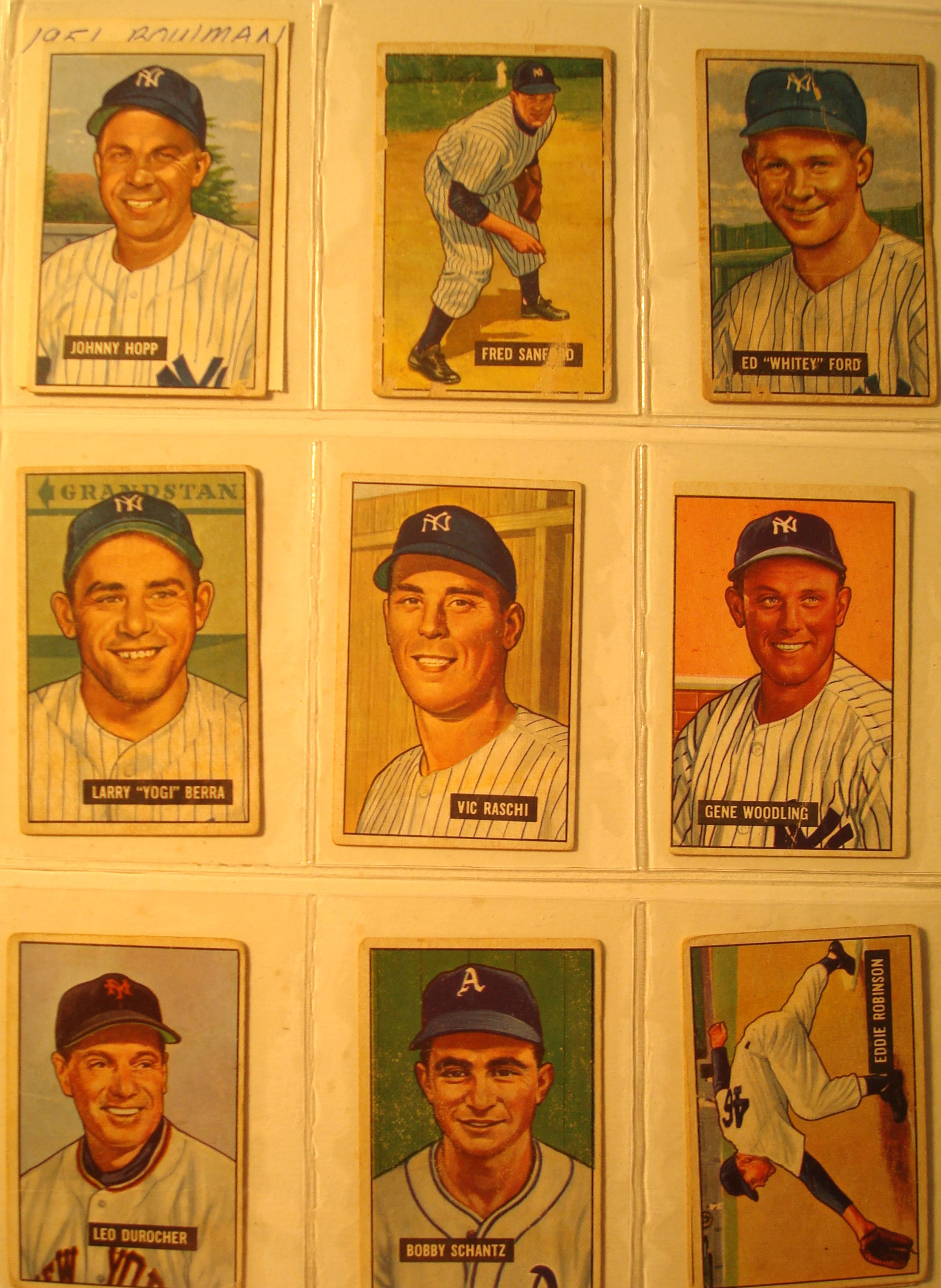 Bone Daddys New York Yankees Baseball Card Collection 1951 ImaSportsphile