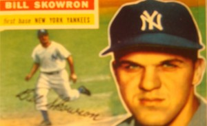 Original Baseball Card 1956 New York Yankees 1B Bill Skowron