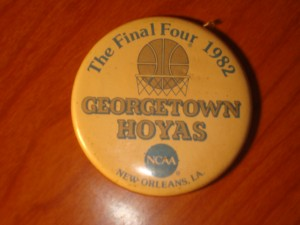 NCAAM - Official Pin 1982 Men's Basketball Final Four from New Orleans, LA featuring the Georgetown University Hoyas coached by John Thompson