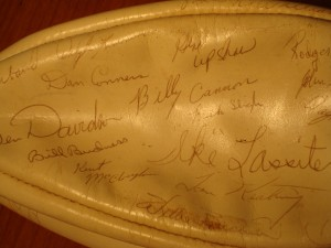 NFL - 1967 Oakland Raiders Autographed Team Ball - Ben Davidson, Gene Upshaw, Billy Cannon, Ike Lassiter