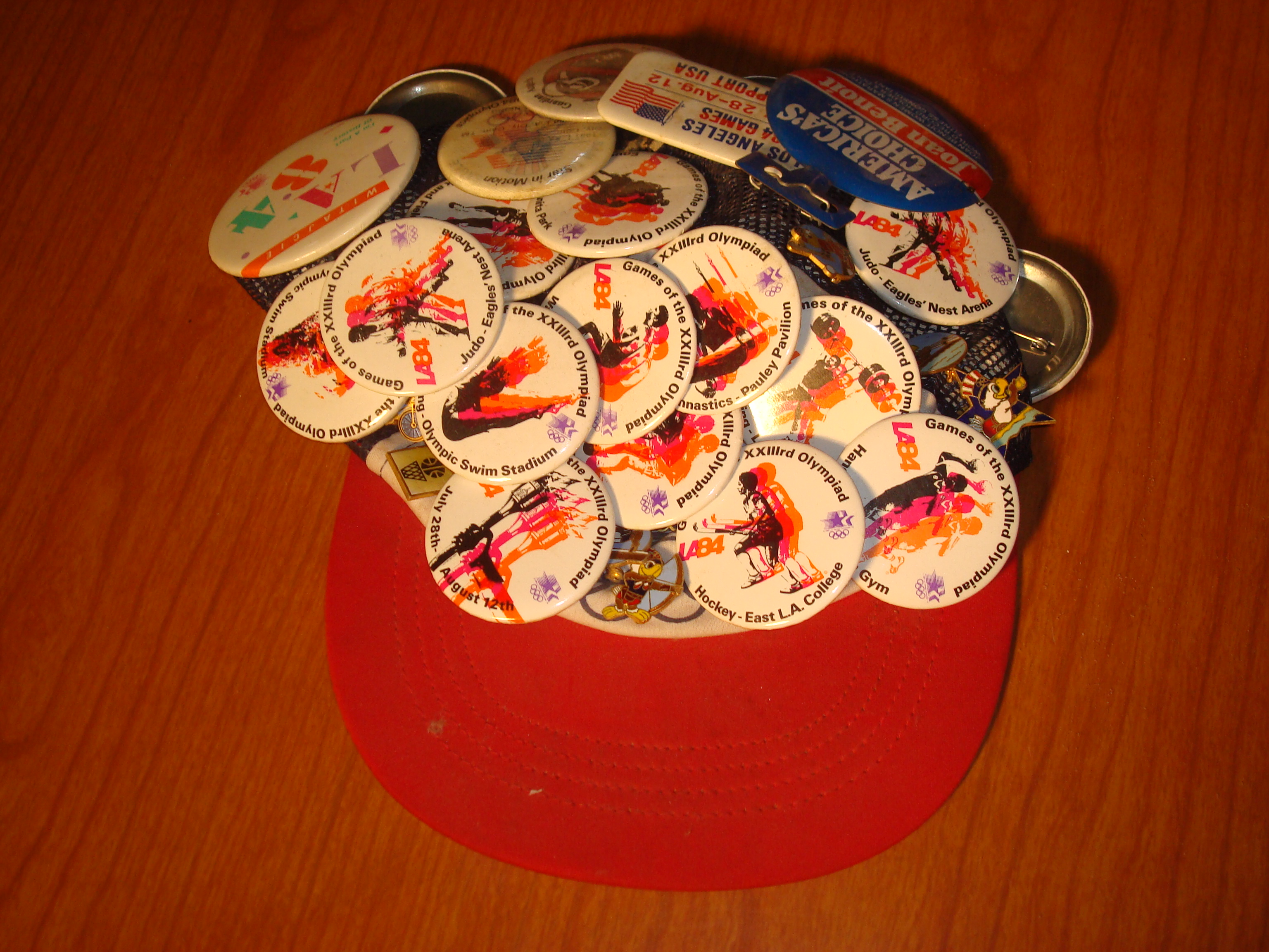 b75c8cd2f3e Official Cap and 20 Official Sport Pins of the 1984 Los Angeles Olympics  worn by Bone
