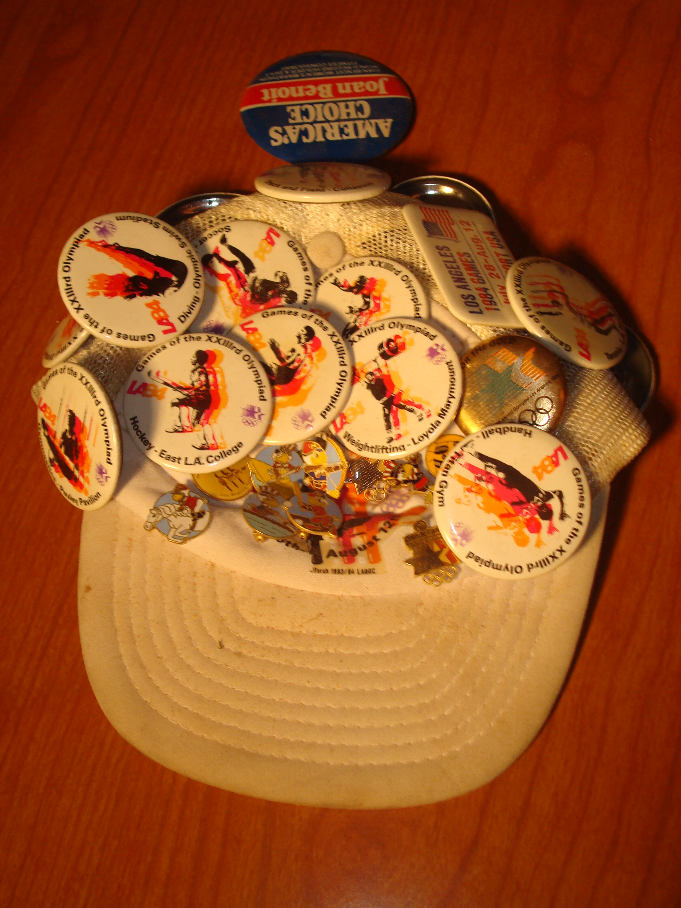 920a1fbdd2a Official Cap and 23 Official Individual Sport Pins for the 1984 Los Angeles  Olympics worn by