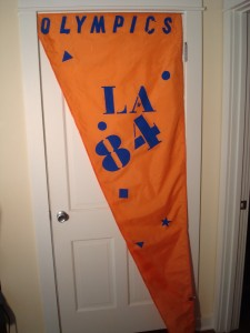 Official Stop Light Pole Banner 1984 Los Angeles Olympic Games