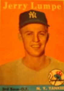 Origianl Baseball Card 1958 Topps New York Yankees 2B & OF Jerry Lumpe