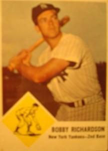 Original Baseball Card 1957 Bowman New York Yankees 2B Bobby Richardson