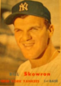 Original Baseball Card 1957 Topps New York Yankees 1B Bill Skowron