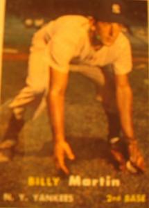Original Baseball Card 1957 Topps New York Yankees 2B Billy Martin