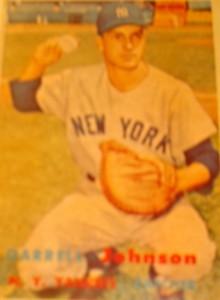 Original Baseball Card 1957 Topps New York Yankees C Darrell Johnson