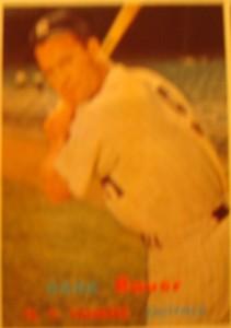 Original Baseball Card 1957 Topps New York Yankees OF Hank Bauer