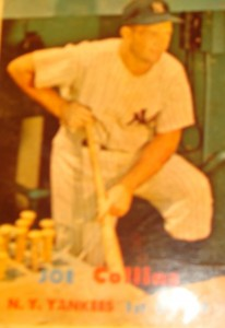 Original Baseball Card 1957 Topps New York Yankees OF Joe Collins