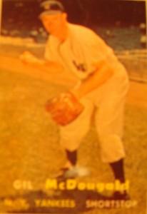 Original Baseball Card 1957 Topps New York Yankees SS Gil McDougald