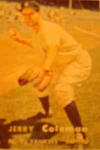 Original Baseball Card 1957 Topps New York Yankees SS Jerry Coleman