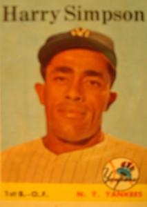 Original Baseball Card 1958 Topps New York Yankees 1B & OF Harry Simpson