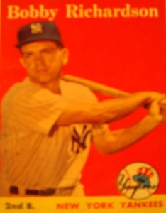 Original Baseball Card 1958 Topps New York Yankees 2B Bobby Richardson