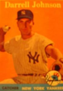 Original Baseball Card 1958 Topps New York Yankees C Darrell Johnson