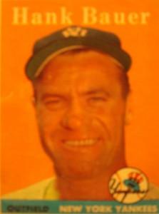 Original Baseball Card 1958 Topps New York Yankees OF Hank Bauer