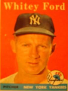 Original Baseball Card 1958 Topps New York Yankees P Whitey Ford