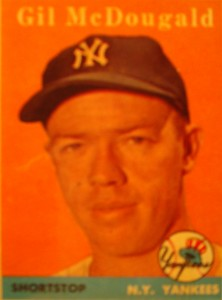 Original Baseball Card 1958 Topps New York Yankees SS Gil McDougald