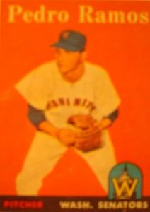 Original Baseball Card 1958 Washington Senators & New York Yankees P Pedro Ramos