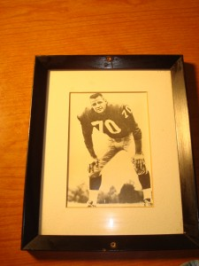 Original Picture 1956 NFL Champion New York Giants All Pro Rookie of the Year Linebacker Sam Huff