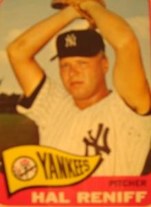 MLB - Original Baseball Card 1865 New York Yankees P Hal Reniff