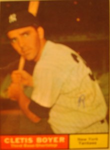 MLB - Original Baseball Card 1961 NY Yankees 3B Cletis Boyer