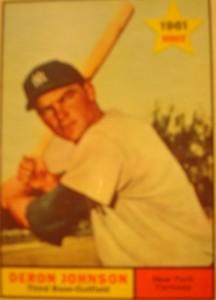 MLB - Original Baseball Card 1961 NY Yankees INF Deron Johnson