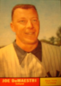MLB - Original Baseball Card 1961 NY Yankees INF Joe DeMaestri