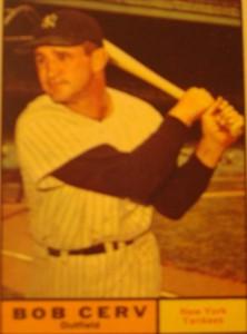 MLB - Original Baseball Card 1961 NY Yankees OF Bob Cerv