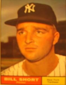 MLB - Original Baseball Card 1961 NY Yankees P Bill Short