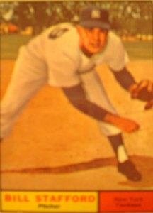 MLB - Original Baseball Card 1961 NY Yankees P Bill Stafford
