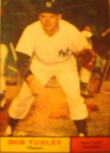 MLB - Original Baseball Card 1961 NY Yankees P Bob Turley