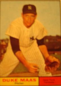 MLB - Original Baseball Card 1961 NY Yankees P Duke Maas