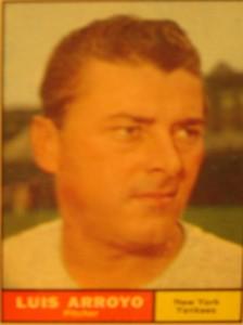 MLB - Original Baseball Card 1961 NY Yankees P Luis Arroyo