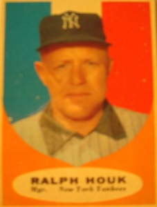 MLB - Original Baseball Card 1961 World Series Champions New York Yankees Hall of Fame Mgr Ralph Houk