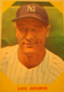 MLB - Original Baseball Card 1961 remake of 1928 World Series Champion New York Yankees 1B Lou Geherig