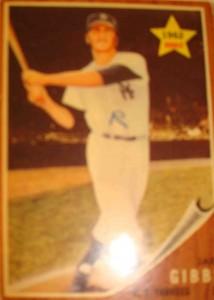 MLB - Original Baseball Card 1962 NY Yankees Gold Star Rookie C Jake Gibb