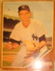 MLB - Original Baseball Card 1962 NY Yankees INF Billy Gardner