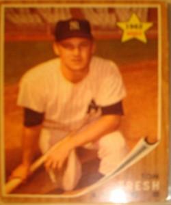 MLB - Original Baseball Card 1962 NY Yankees LF Tom Tresh