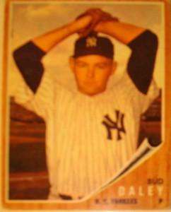 MLB - Original Baseball Card 1962 NY Yankees P Bud Daley